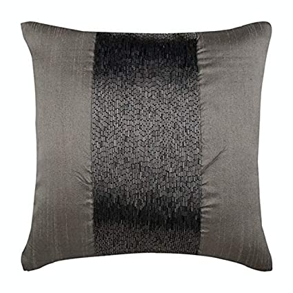 Amazon.com: Luxury Silver Grey Throw Pillows Cover ...