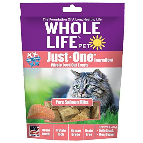 Whole Life Pet Pure Salmon Freeze-Dried Cat Treats, 2.5 oz. (Real Salmon 100%)