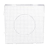 Large Square Clear Perler Fuse Beads Pegboard Children's DIY Craft