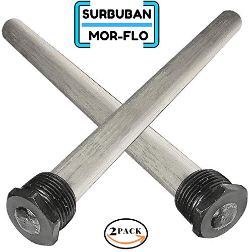 Magnesium RV Water Heater Anode Rod - Extends The Life of Water Heaters by Attracting Corrosive Elements, Tank Corrosion Protection - 9.25'' Long & 3/4'' NPT Thread (2 Pack)