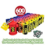 Bags on Board Dog Poop Bags   Strong, Leak Proof Dog Waste Bags   9 x14 Inches, 600 Assorted Color Bags