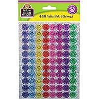 Teacher Created Resources Mini Happy Face Sparkle Stickers Valu-Pak, Multi Color (6631)