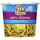Dr. McDougall's Right Foods Vegan Lentil Couscous Soup, Lower Sodium, 2.1-Ounce Cups (Pack of 6)