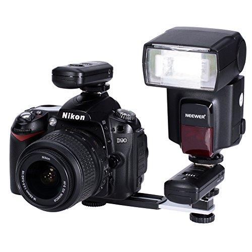 (NEEWER Flashgun Flash Bracket for Flash Hot Shoe Digital DC Camera Arms Bracket)