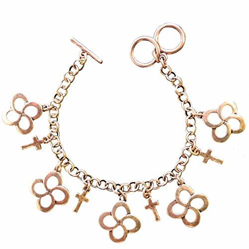 Swirl Cross Faith Gear Women's Gold Christian Bracelet