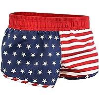 Calhoun USA American Flag Womens Printed Shorts