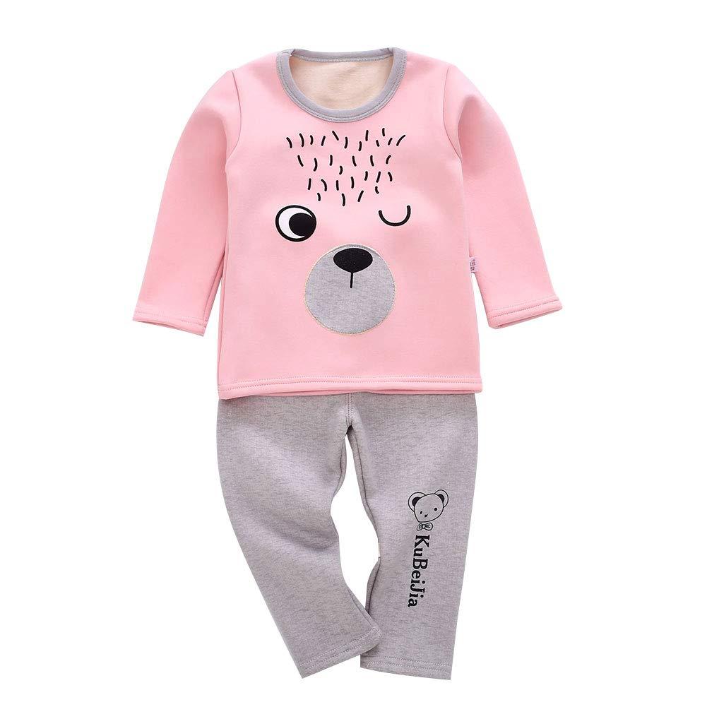 M/&A Toddler Baby Girl Boy Pajamas Sets 100/% Cotton Little Kids Pjs Fleece Lined Long Johns