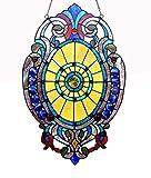 Cheap Chloe Lighting Tiffany-Glass Victorian Window Panel 15×23