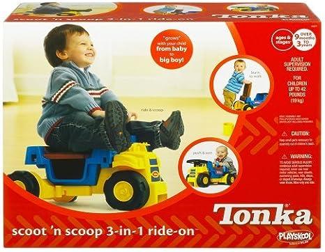Amazon.com: Playskool tonka Scoot N Scoop 3 en 1 Ride-On ...