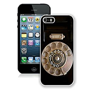 Amazing Classic Iphone 5s Case Elegant Retro Telephone Soft Rubber Silicone White Phone Cover for Iphone 5 by runtopwell