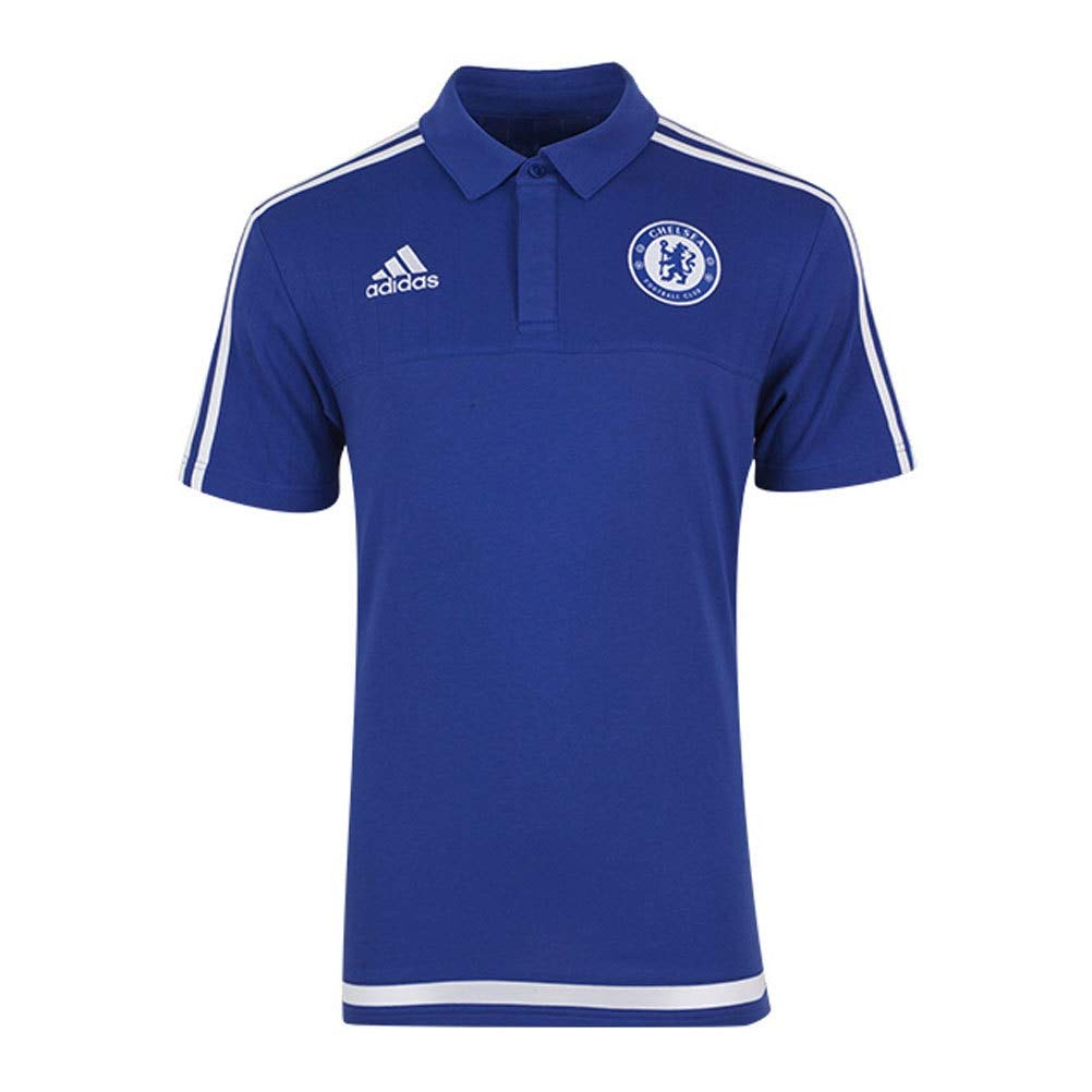 adidas CFC Polo CO - Camiseta para Hombre, Color Azul/Blanco ...