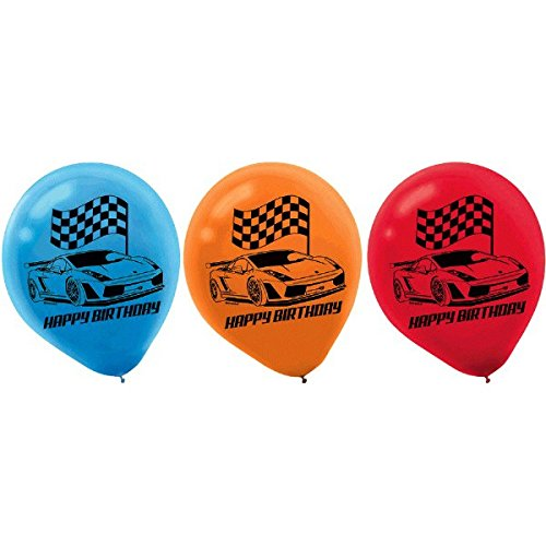 Hot Wheels Wild Racer Printed Latex Balloons, Birthday