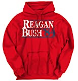 reagan bush 84 sweater - Brisco Brands Ronald Reagan George Bush 84 Campaign Shirt | USA Cool Gift Hoodie Sweatshirt