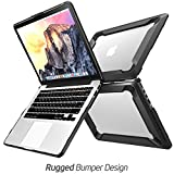 Macbook-Pro-13-Case-NexCase-Heavy-Duty-Slim-Rubberized-Snap-on-Dual-Layer-Hard-Case-Cover-with-TPU-Bumper-Cover-for-Apple-Macbook-Pro-13-inch-13-A1502-A1425-2015-Release-Black