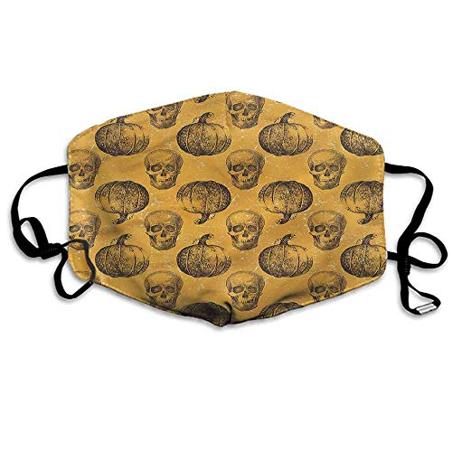 Pumpkin Fashion Mouth Mask Halloween Theme Scary Skull for Cycling Camping Travel W4