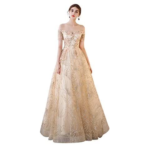 Vestido de novia Largo Elegante sin Tirantes Puff Princesa ...