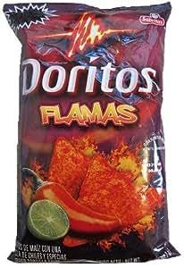 Doritos Flamas Flavored Tortilla Chips, 7.625Oz Bags (Pack of 8)