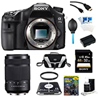 Sony A77II ILC-A77M2 A77M2 a77 II Digital SLR Camera - Body Only Bundle Includes camera, Sony 55-300 Lens, 32GB SDHC Memory Card, NP-FM500 Camera Battery, Compact Bag, 57-in-1 Memory Card Reader, Photography DVD, micro-HDMI Cable, and More Benefits Review Image