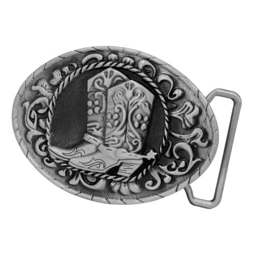 Buckle Rage Adult Mens Cowboy Spur Boots Western Rodeo Belt Buckle Silver