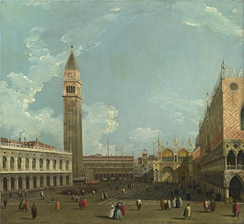 Oil Painting 'Studio Of Canaletto Venice The Piazzetta From The Molo' 24 x 26 inch / 61 x 66 cm , on High Definition HD canvas prints is for Gifts And Foyer, Hallway And Kids Room Decoration
