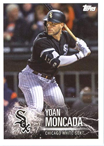 2019 Topps MLB Stickers Baseball #25 Yoan Moncada/Corey Kluber Chicago White Sox/Cleveland Indians Trading Card Sized Album Sticker with Collectible Card Back