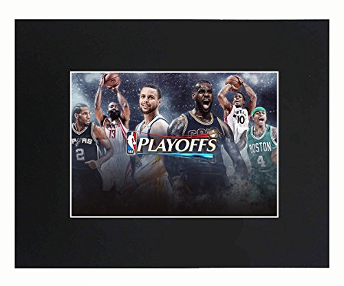 Playoffs 2018 NBA Basketball Team Stars 2017-18 stephen curry LeBron James 8x10 with Matted Print Printed Picture Photograph Gift Wall Decor Display USA Seller