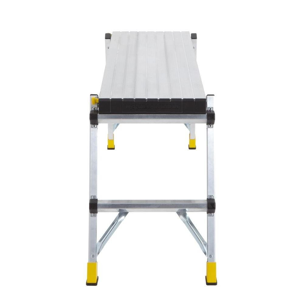 47.25'' x 12'' x 20'' Aluminum Slim-Fold Work Platform with 250 lb. Load Capacity by Gorilla Ladders (Image #4)