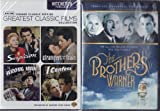 LIMITED EDITION 2 PACK DVD Set - The Brothers Warner / TCM Greatest Classic Films Collection: Hitchcock Thrillers (Suspicion / Strangers on a Train / The Wrong Man / I Confess)