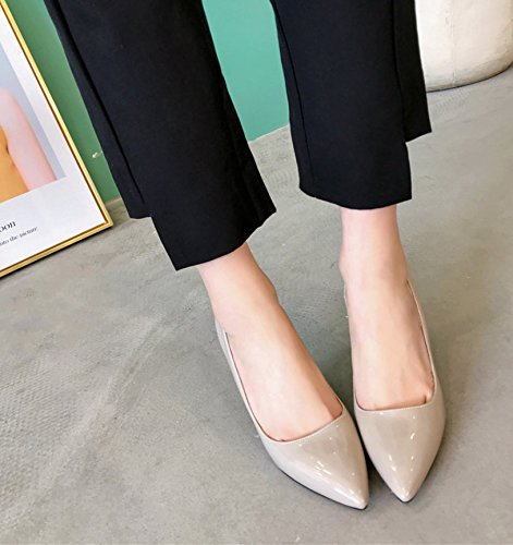 Luz 9cm mujer 37 zapatos Wild Mujer Moda alto solo zapatos 39 calzado Ajunr Transpirable puerto de Elegante Gris elegante Sandalias tacón los Ocasional WgI8pqpB