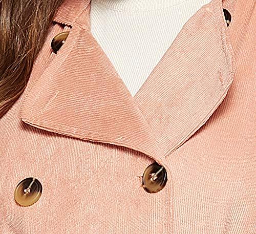 Rose Long Blouse Tranchée Shobdw Mode Pullover Mince Revers À Veste Hiver Capuche Hoodie Femme Blouson Manteau Parka Tops IT6xwqATg