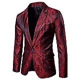 Sumen Men Stylish Solid One Button Party Prom Tuxedo Slim Fit Blazer Dress Suit Coat