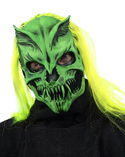 Zagone Studios Nuclear Option Green Skeleton Black Light Reactive Mask ()