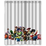 "Custom Waterproof Bathroom Shower Curtain 60"" x 72"" Fashionable Toy Story Cartoon Design"