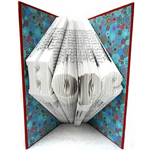 Hand Folded Book Art Sculpture, Hope, Birthday Graduation 1st Anniversary Mother