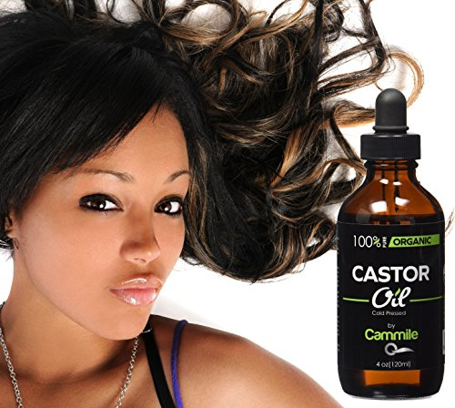 Organic Castor Oil - For Hair, Eyelashes, and Eyebrows Growth - 4 oz - Cold Pressed - Hexane Free - Great For Face And Skin