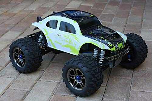 (SummitLink Compatible Custom Body Muddy Green Over White/Black Replacement for 1/10 1/8 Scale RC Car or Truck (Truck not Included) B-BWG-03)