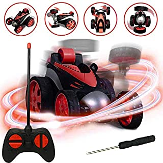 RC Cars, LGUIY Kids Toys Remote Control Car Stunt Car Vehicle High Speed 360 Degree Rotation Flip Racing Car Upright Driving Christmas Birthday Gifts Gadgets Toys for Boys Girls (Red)