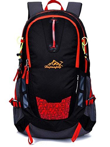 Alpinismo spalla bag uomini e donne borsa da viaggio zaino sport all'aria aperta borsa bicicletta 30L ( colore : Nero , dimensioni : 28L )