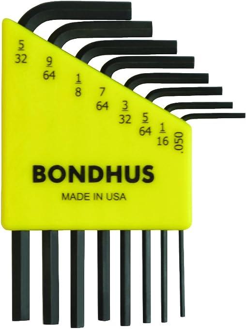 sizes 5//64-3//16-Inch Bondhus 10945 Set of 7 Balldriver/« L-wrenches