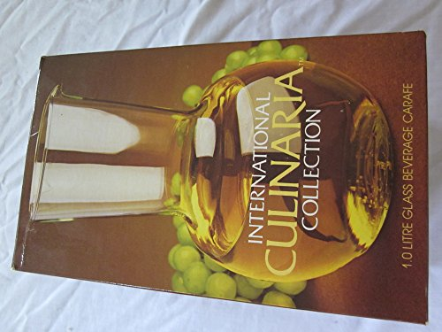 Beverage Carafe, International Culinaria (Tm) Collection, Made in France 1.0 Litre Glass New in Box (Design 1l Carafe)