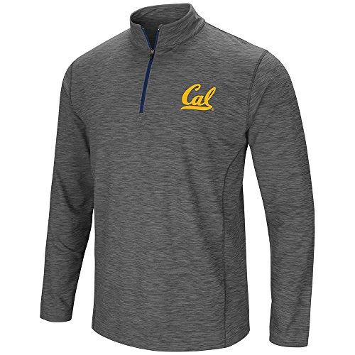 Mens Cal Berkeley Golden Bears Action Pass Long Sleeve Quarter Zip Wind Shirt - L
