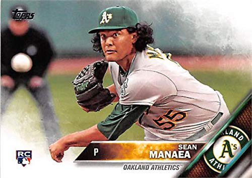 (Sean Manaea baseball card (Oakland Athletics Pitcher) 2016 Topps #US13 Rookie)