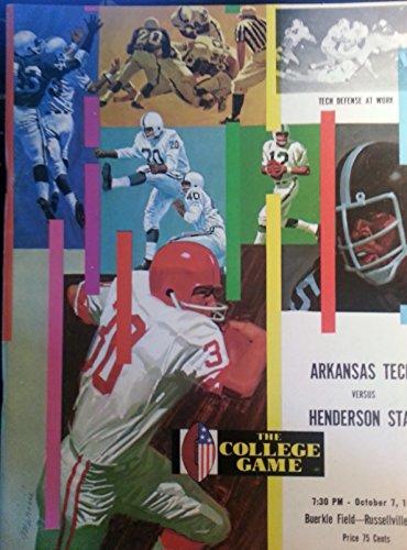10/7/1972 Arkansas Tech vs Henderson State College Football Program by Childhood Sports Memories-College Football...