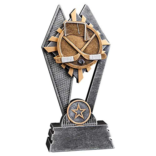 Express Medals 7 inch Sun Ray Resin Hockey Trophy Award with Engraved Personalized Plate SR107 - Awards Line Hockey Resin