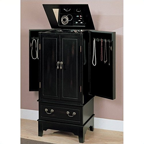 900095 Contemporary Black Jewelry Armoire by Coaster Co.