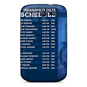 Shock Absorption Hard Phone Case For Samsung Galaxy S3 With Custom Fashion Indianapolis Colts Image LavernaCooney