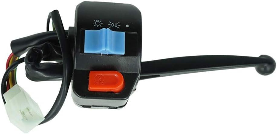 JIANGNANCHUN 1 Paire 12V /Étanche Moto Leftfield Et Guidon Droit Commande Commutateur Corne Clignotant Adepte /Électrique Adepte pour GY6 50cc 125cc 150cc Color : Levers