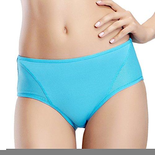 Yvette mujeres de mediana altura deportes bragas # 6038–antibacteriano/odor-inhibit/apoyo turquesa