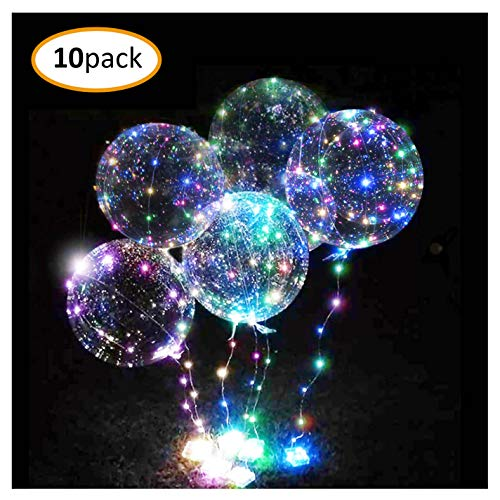 - Thunder Bats 10 Pack LED light up Bobo Balloons-3 meter fairy light