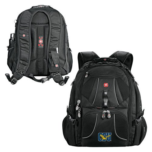 Coppin Wenger Swiss Army Mega Black Compu Backpack 'Official Logo' by CollegeFanGear